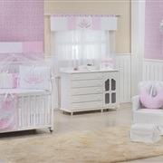 Quarto para Bebê sem Cama Babá Coroa Real Rosa