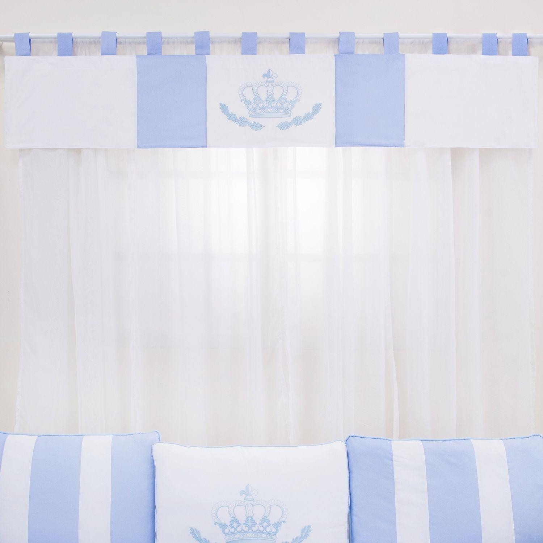 Cortina Coroa Real Azul