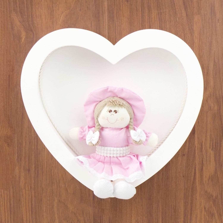 Nicho Coração com Boneca Laura Rosa