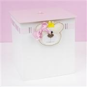 Kit Higiene Ursa Princesa com Passa Fita Rosa