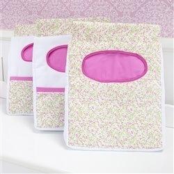 Porta Fraldas Varão Corujinha Floral Pink