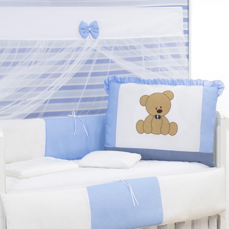 Kit Berço Urso Dengoso Azul