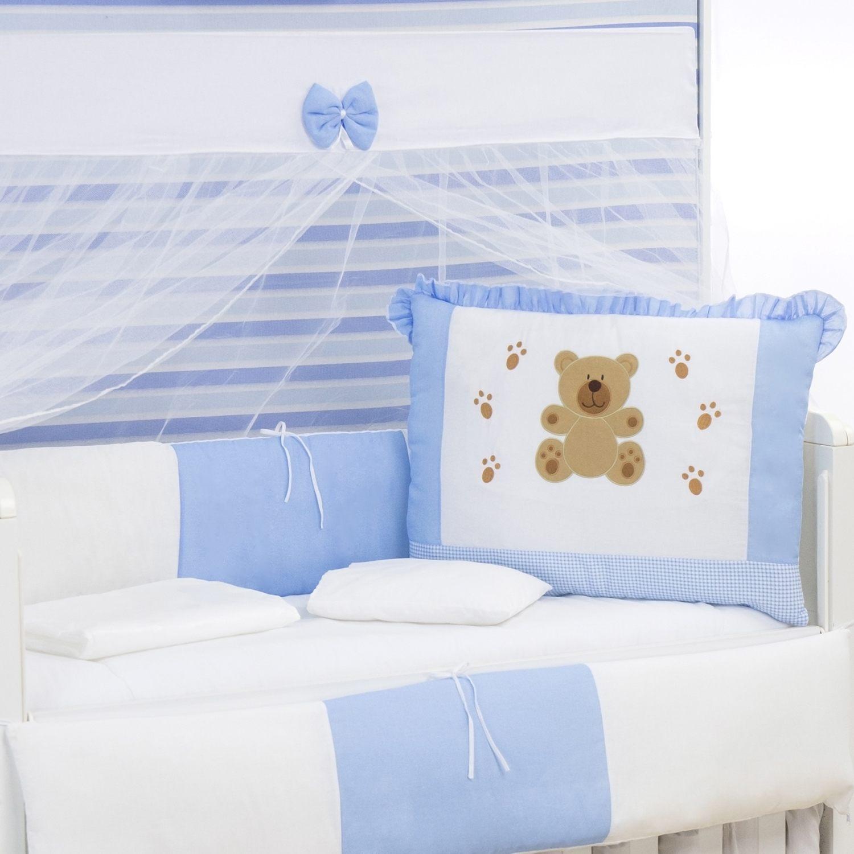 Kit Berço Patinhas de Urso Azul