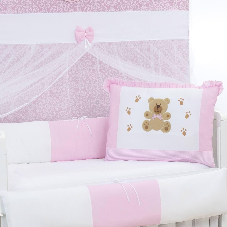 Kit Berço Patinhas de Ursa Rosa