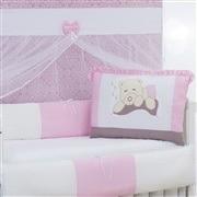 Kit Berço Ursa Travesseiro Rosa