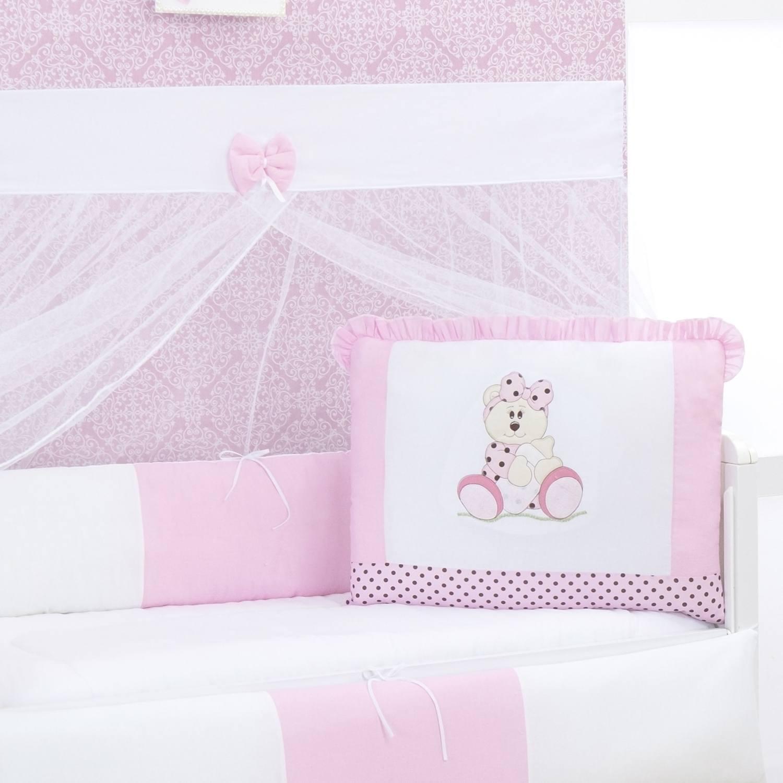 Kit Berço Ursa Baby Rosa
