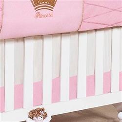 Saia para Berço Princesinha Rosa Premium