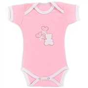 Body Manga Curta Teddy Love Rosa 6 a 9 Meses