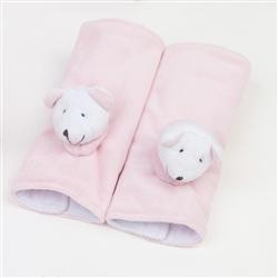 Protetor para Cinto em Plush Ursinha Rosa Bebê