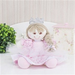 Bonequinha Princesa Nina Rosa Poá