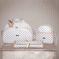 Conjunto de Bolsas Maternidade Paris Marfim