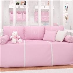 Kit Cama Babá Realeza Rosa Premium