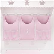 Porta Fraldas Varão Realeza Rosa Premium