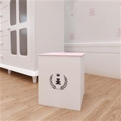 Lixeira Realeza Rosa Premium