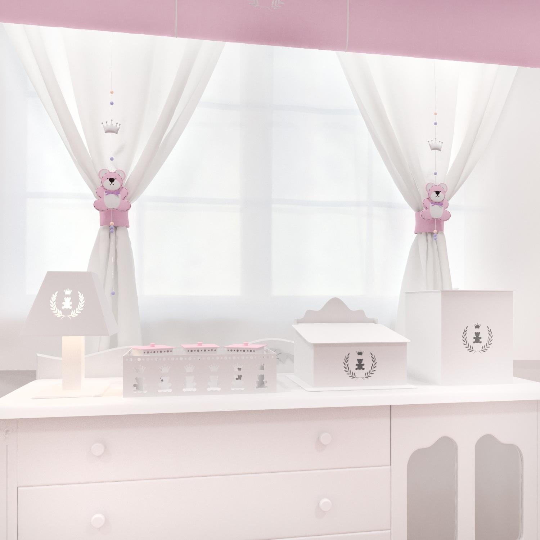 Kit Higiene Realeza Rosa Premium