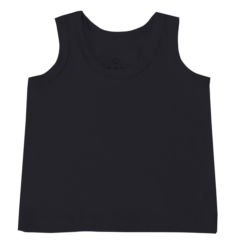 Camiseta Regata Preto 6 a 9 Meses