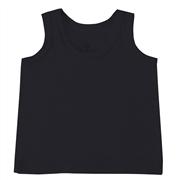 Camiseta Regata Preto 9 a 12 Meses