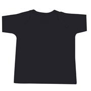 Camiseta Manga Curta Preto Recém-Nascido a 3 Meses