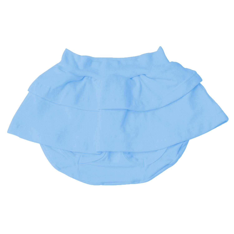 Tapa Saia Azul Recém-Nascido a 3 meses