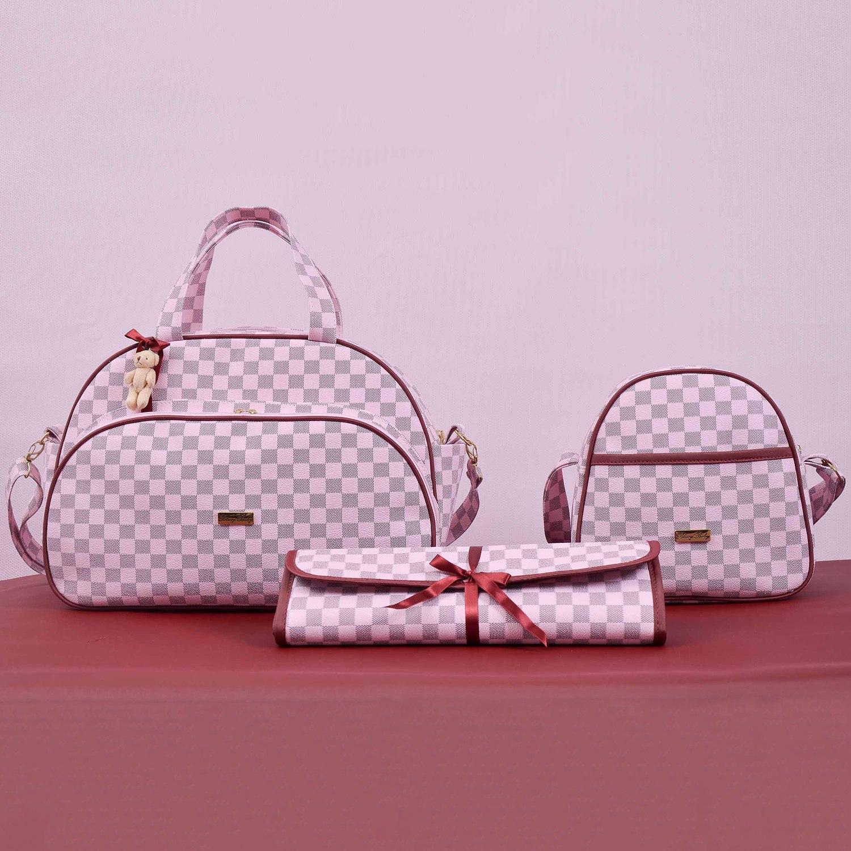Conjunto de Bolsas Maternidade Paris Rosa