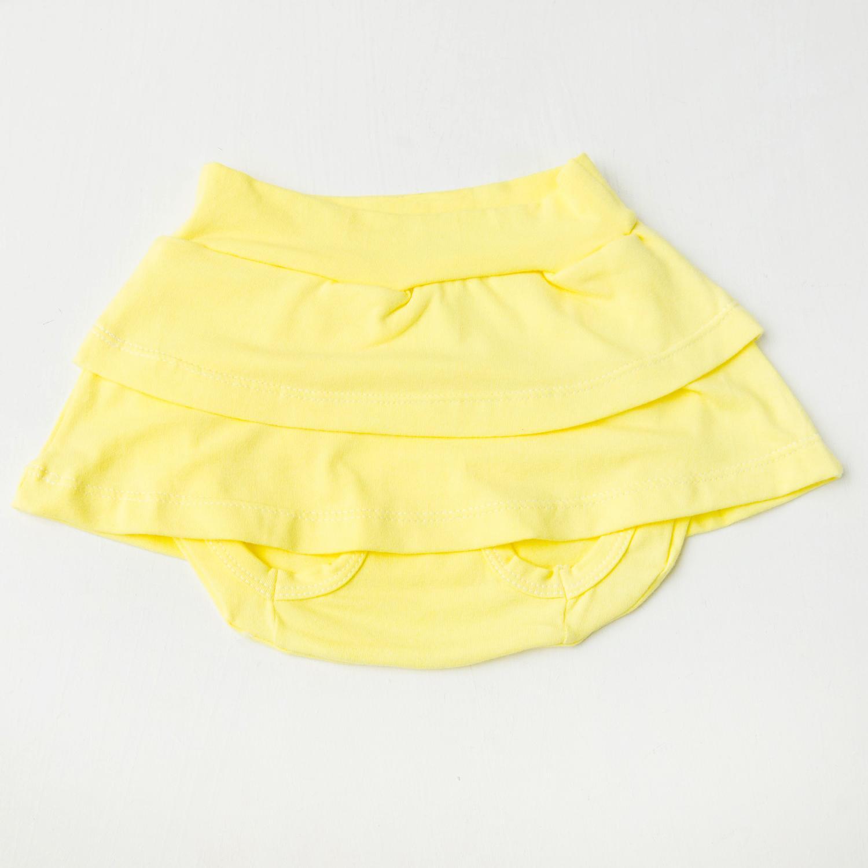 Tapa Saia Amarelo Recém-Nascido a 3 meses
