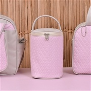 Conjunto de Bolsas Maternidade Valência Cáqui/Rosa