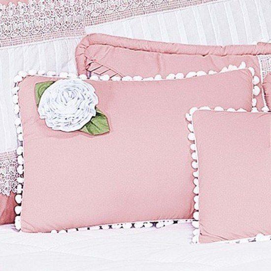 Almofada Retângular Flor Belle Rosé