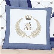 Almofada Decorativa Brasão Urso Classic Marinho
