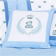 Almofada Decorativa Brasão Urso Classic Azul