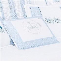 Almofada Retângular Coroa Imperial Azul
