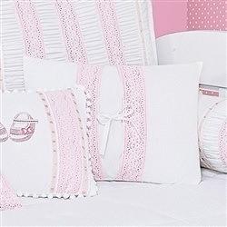 Almofada Decorativa Lacinho Imperial Rosa