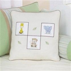 Almofada Decorativa Bordada Animais Leãozinho
