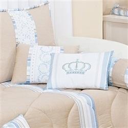Almofadas Decorativas Coroa Azul
