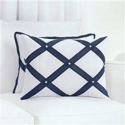Almofada Decorativa Faixas Elegance Marinho