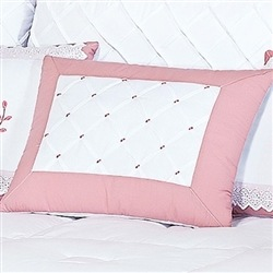 Almofada Decorativa Bordada Pontinhos Elegance Rosé