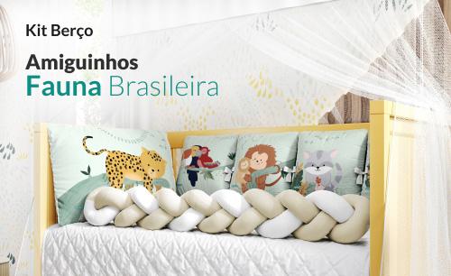 Kit Berço Amiguinhos da Fauna Brasileira