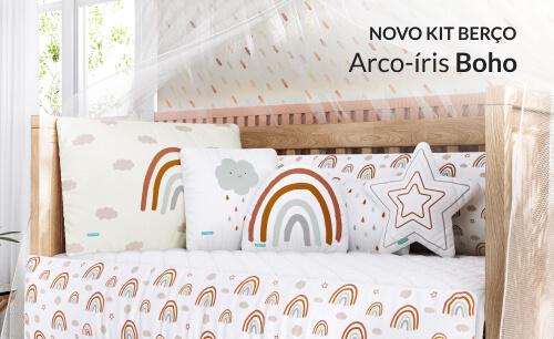 Kit Berço Arco-íris Boho