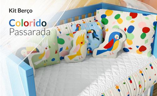 Kit Berço Colorido Passarada