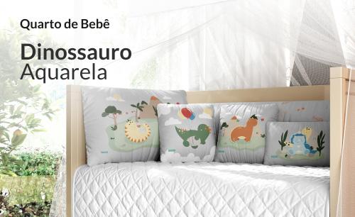 Quarto de Bebê Dinossauro Aquarela