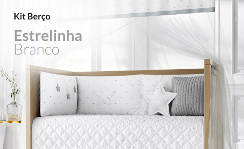 Kit Berço Estrelinha Branco