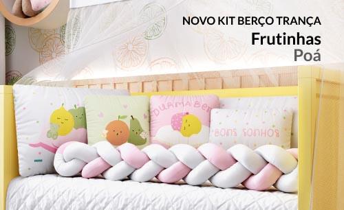 Kit Berço Trança Frutinhas Poá