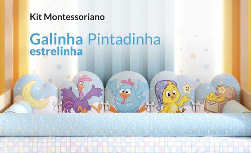 Kit Montessoriano Galinha Pintadinha Estrelinha