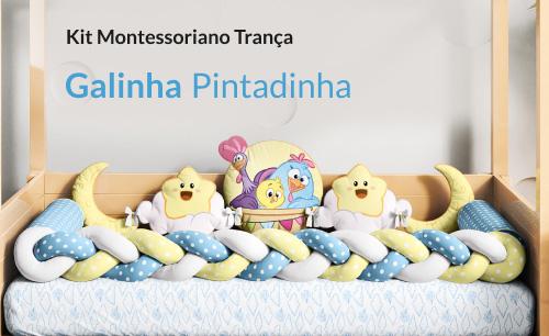 Kit Montessoriano Trança Galinha Pintadinha