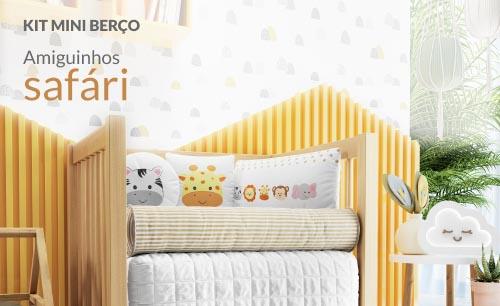 Kit Mini Berço Amiguinhos Safári