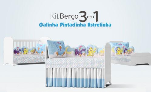 Kit Berço Galinha Pintadinha 3 em 1