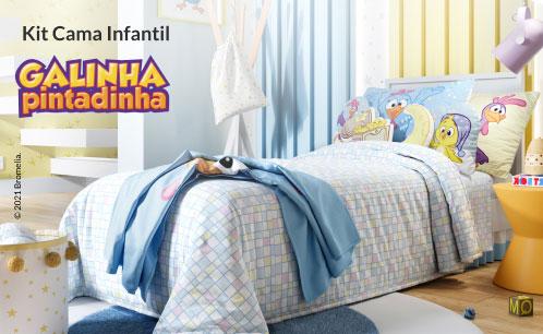 Kit Cama Infantil Galinha Pintadinha