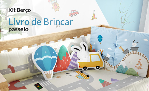 Kit Berço Livro de Brincar Passeio