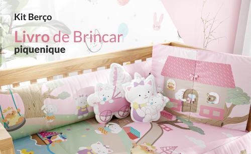 Kit Berço Livro de Brincar Piquenique