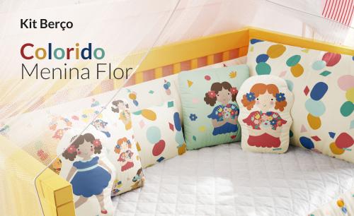 Kit Berço Menina Flor