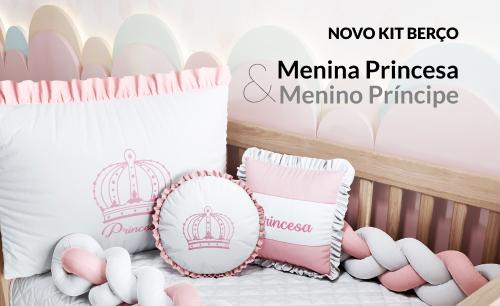 Kit Berço Menina Princesa Rosa
